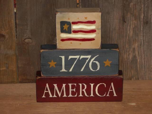 Primitive Americana / Summer Wood Block sets