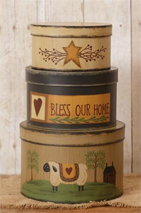 Bless Our Home Primitive Stacking Boxes