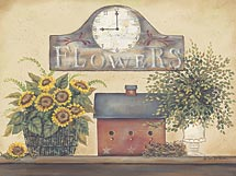 """Flower Clock"" Picture"