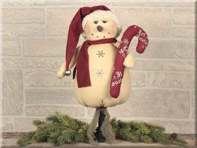 Vintage Snowman on Spindle