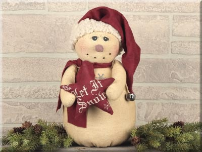 Vintage Snowman with Let it Snow Star