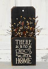 There's No Place Like Home Primitive Wood Box Arrangement -Shelf sitter/ Wall hanger
