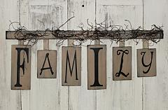 Primitive FAMILY Hanging Wall Decor