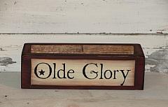 Olde Glory Americana Primitive Wood Box - 12 inch