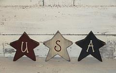 Americana USA Star Shelf Sitters