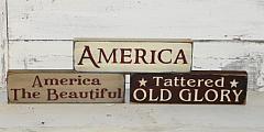 Primitive Americana Wood Shelf sitter/Peg hanger
