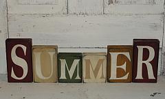 Summer Primitive Tall Block Set