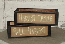 Fall Primitive Wood  Box-Sayings optional