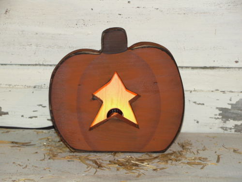 Primitive Petite Fall Pumpkin Light