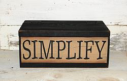 Simplify Rustic Wood Box with Crackled Paint