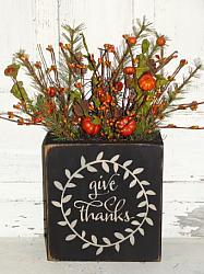 Give Thanks Primitive Box Arrangement