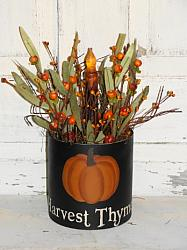 Primitive Pumpkin Fall Floral Arrangement/sayings optional