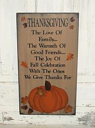 Thanksgiving Primitive Wood Sign
