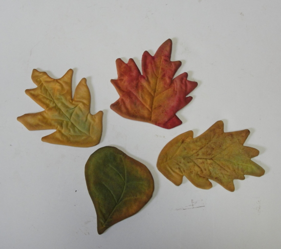 Color Washed Primitive Fall Leaves