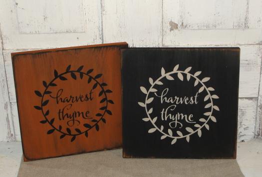 Harvest Thyme Primitive Wood Sign