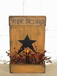 Simple Blessings Primitive Wood Light Arrangement