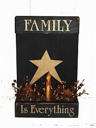 Family Is Everything Primitive Wood Light Arrangement