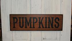 PUMPKINS Primitive Wood Sign