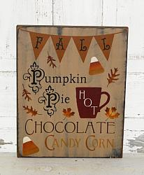 Primitive Fall Typography Wood Sign/Small