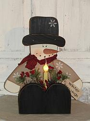 Snowman Sitting Box With Light-Tan