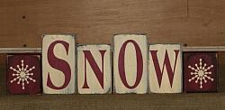 Primitive Snow and Snowflakes Block Set