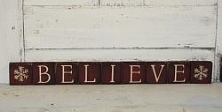 Believe with Snowflakes Primitive Block Set