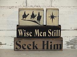 Wise Men Still Seek Him Nativity Christmas Block Set