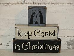 Keep Christ in Christmas Nativity Christmas Block Set