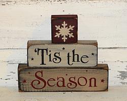 Tis The Season Primitive Stacking Blocks