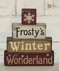 Frosty's Winter Wonderland with Snowflake Primitive Stacking Blocks