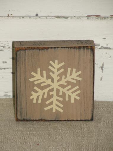 Snowflake Block Shelf Sitter