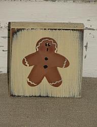 Gingerbread Block Shelf Sitter