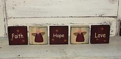 Faith Hope Love Angel Block Set