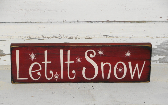Christmas/Winter Small Signs & Shelf Sitters