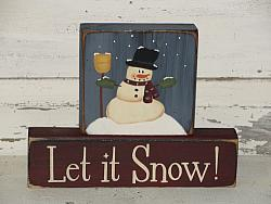 Snowman-Let it Snow Block Set
