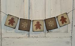 Gingerbread and Snowflake Hanging Garland