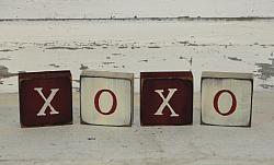 XOXO Valentine Wood Block set