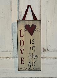 LOVE Is In The Air Wood Sign/Shelf sitter