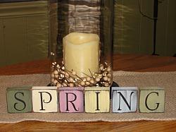 Spring / Easter Primitive Wood Block Set