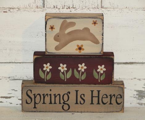 Primitive Spring / Easter Wood Block sets