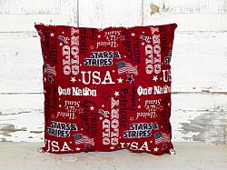 Primitive Americana Typography Design Accent Pillow