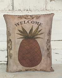 Primitive Welcome Pineapple Accent Pillow