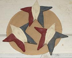 Primitive Americana Painted Grungy Stars-Bowl Fillers