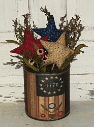 1776 Red White and Blue Primitive Arrangement with Stars