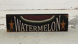 Watermelon Primitive Wood Sign/Shelf sitter