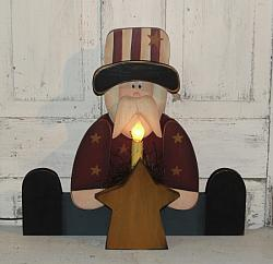 Uncle Sam With Star & Light