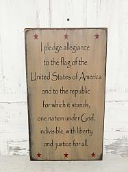 I Pledge Allegiance To the Fag Primitive Wood Sign- Vertical