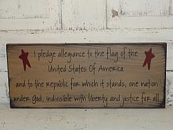 I Pledge Allegiance Wood Sign