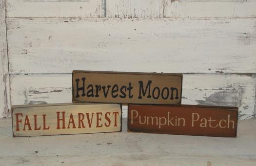 Harvest Moon-Pumpkin Patch-Fall Harvest small Shelf Sitter