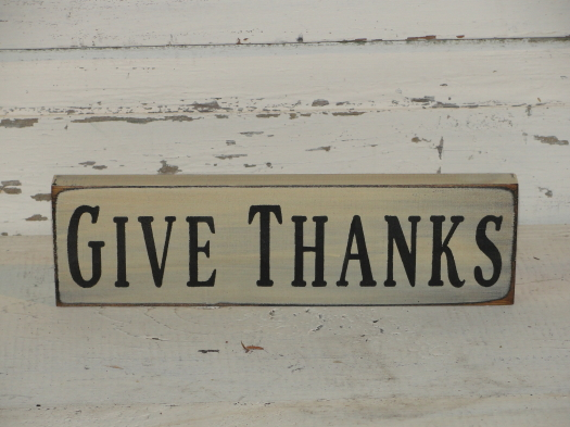 Give Thanks Small Shelf Sitter